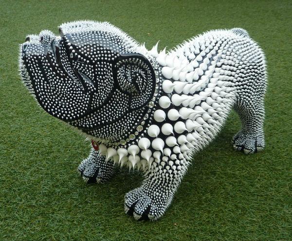 chien dog bouledogue bullterrier animal deco resine maniez. Black Bedroom Furniture Sets. Home Design Ideas